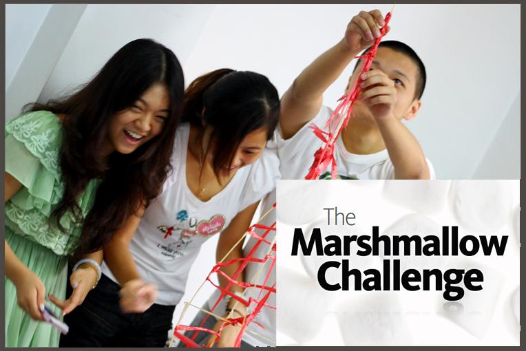 Marshmallow Challenge title Slide
