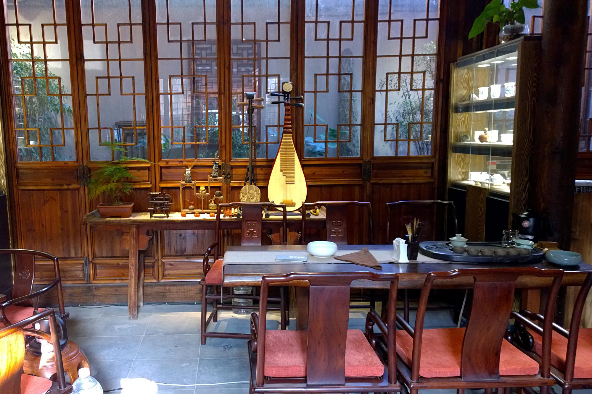 Suzhou Pingjiang teahouse